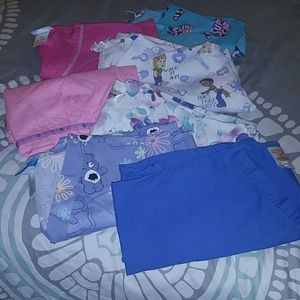 Scrub tops/Various